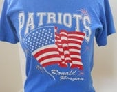 1980s Patriots Ronald Reagan T Shirt Size S
