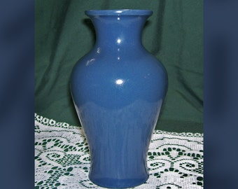 Vintage Blue Pottery Vase / CDP of Korea Vase / Natural Whiteclay Handcrafted Vase / Gorgeous Teal Vase