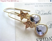 On Sale Gold Azalea Faceted Amethyst Drop Earrings Bridesmaids Wedding Bride Bridal Jewelry - Amethyst Blush