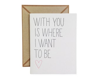 With You letterpress card - single