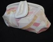 pink snakeskin purse 80s varon leather pouch snake patchwork clutch bag