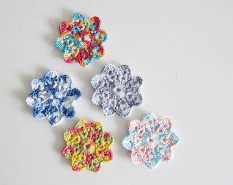 Crochet Flowers / Crochet Coasters - Crochet Flower Coasters - Made to Order
