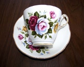 Regency  England Bone China  cup & Saucer set  Red or  Yellow Rose  Perfect  Cond - SOFIA10
