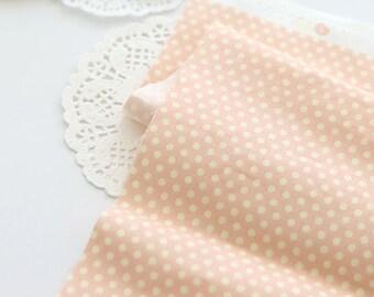 Petit Dots on Soft Pink cotton, U030