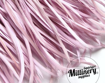 Lilac Purple Goose Biot Feather Fringe (30 or More Feathers) for Millinery and Hat Making