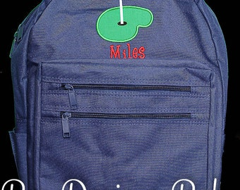 Boys Personalized Backpack, Golf Backpack, Monogrammed Backpack, Custom Backpack, Personalized Backpack, Boys Backpack