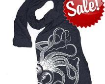 KRAKEN OCTOPUS scarf -- american apparel tri blend t shirt material (4 Color Options) skip n whistle
