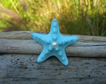 Starfish Hair Clip or Barrette-MERMAID TREASURE-Beach Weddings, Mermaid, Nautical Wedding, Photo Prop, Summer Vacation, Little Mermaid