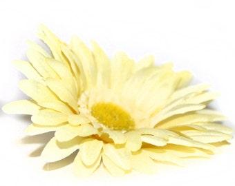 1 Light Yellow Silk Daisy - Artificial Flowers, Silk Flowers