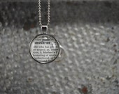 Vintage Dictionary Word Necklace -Mother