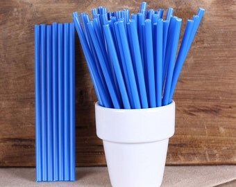 "Dark Blue Lollipop Sticks, Small Dark Blue Cake Pop Sticks, Lolly Sticks, Marshmallow Pop Sticks, Plastic Lollipop Sticks (4.5"" - 50ct)"