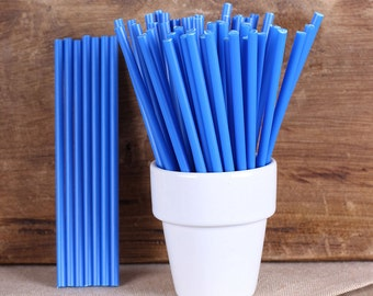 "Dark Blue Lollipop Sticks, Small Dark Blue Cake Pop Sticks, Lolly Sticks, Marshmallow Pop Sticks, Plastic Lollipop Sticks (4.5"" - 30ct)"