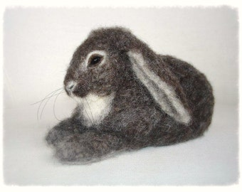 Ooak Needle Felted Rabbit