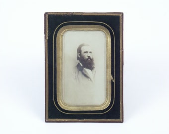 German Ambrotype Portrait of a bearded man