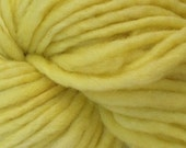 Bulky / Chunky Weight Hand Painted Wool Yarn Pencil Roving in Tango Yellow 60 yards