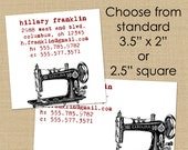 Vintage Sewing Machine - 50 Custom Business or Calling Cards