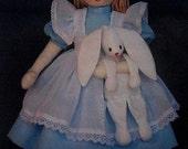 Alice in Wonderland Doll Sewing Pattern UNCUT Brown House / Easy Sew Designs B-1540