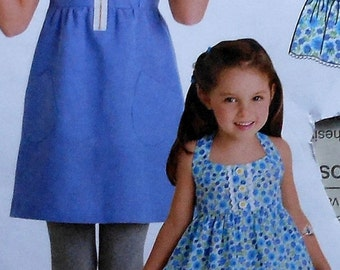 Girls Dress,Pants, and Top Sewing Pattern UNCUT Simplicity 2434 sizes 7-14