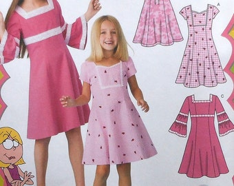 Girls Dress Sewing Pattern UNCUT Simplicity 3902 sizes 7-14