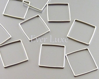 4 square 15mm charms for earrings necklaces, supplies 1447-MR-15