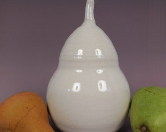 Winter Pear --- Sculptural Ceramic Pear