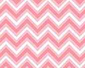 Henry Glass, Anything Goes, Chevron in Pink, 1 yard