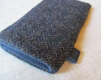 iphone 7 / iphone 6 plus Samsung S6  HTC Harris Tweed Wool Cover
