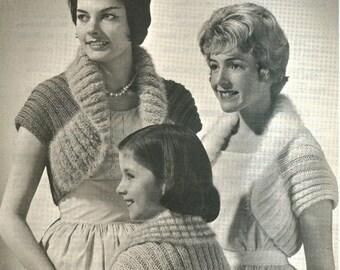 1950's Knit Shrug Sweater Digital Download Pattern