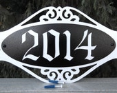 Address, Address sign, Wall plaque, Street address, House number, Metal art, Street number, Custom Font, Outdoor plaque, Name Plaque