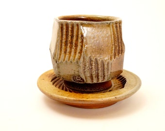 cup & saucer / woodfired teabowl N17