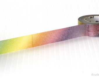 Japanese MT Rainbow Ombre Washi Tape 15mm Paper Tape from PrettyTape