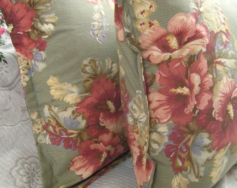 "SHETLAND MANOR - Custom Made Standard Pillow Shams  - Ralph Lauren Fabric """" - Standard 20"" x 26"""