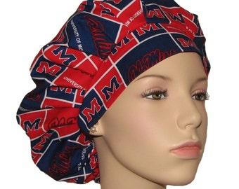 Scrub Hats - University Of Mississippi Ole Miss Fabric