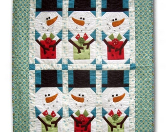 Snowman Gift Swap quilt pattern By Cleo And Me