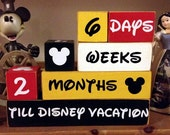 The ORIGINAL Disney Vacation Countdown Wooden Block Set for Months Weeks and Days