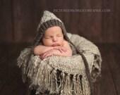 Woodland Pixie Texture Bonnet New Knit PATTERN ONLY True Newborn Size Baby Boy Girl Unisex Hat Photo Photography Prop