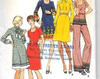 BUTTERICK 3481 UNCUT Size 10, Dress, Top, Pants Pattern Retro 1970's