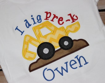 Personalized I Dig Pre-K Shirt