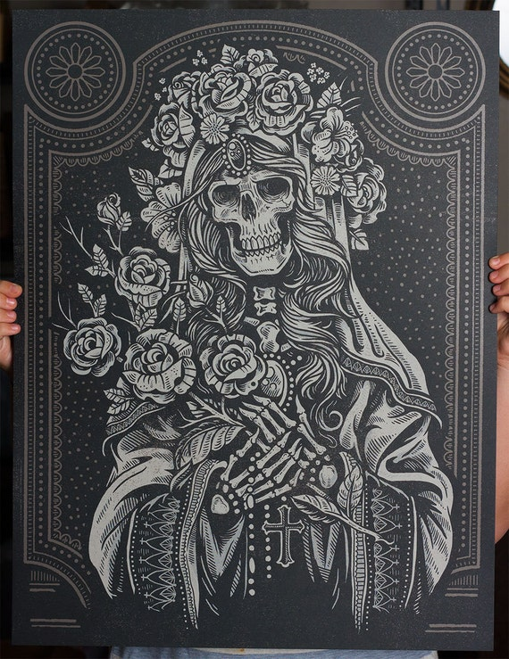 Sacred Virgin Silk Screen Art Print