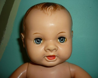 Vintage Unmarked Magic Skin Baby Doll