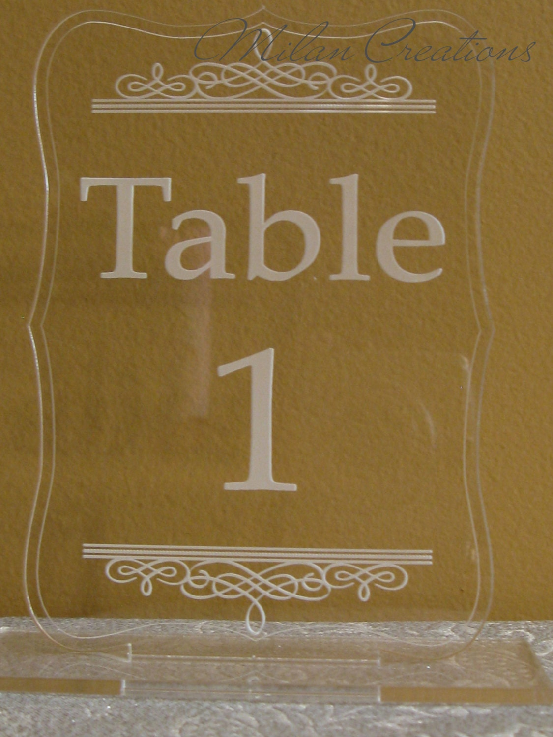 Kitchen dining for Table numbers