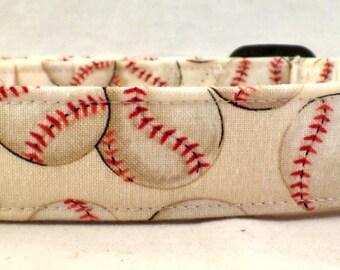 Home Run Baseballs on Cream Dog Collar Baseball