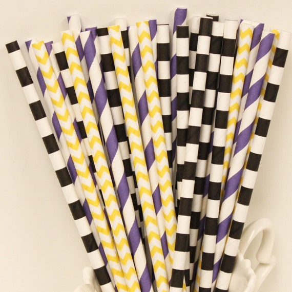 Baltimore Ravens Straws
