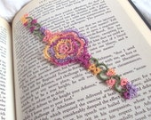 Summer Rose Bookmark in Tatting - Rosa Version 1