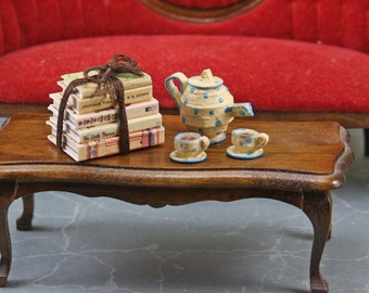 Doll House Miniature - Tied Book Stack