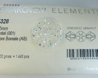 2.5mm Swarovski 144pc Crystal AB Bicone 5328