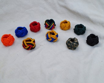 Neckerchief slides paracord turks head knot woggle for Boy Scouts or Cub Scouts