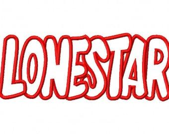 Lonestar Embroidery Machine Applique Design 2520