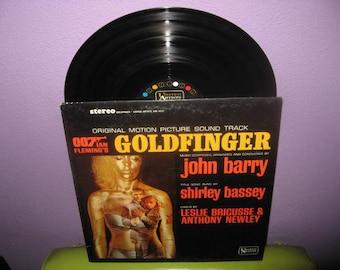VINYL LOVE SALE Vinyl Record Album Goldfinger Original Soundtrack Lp 1964 007 James Bond Classic
