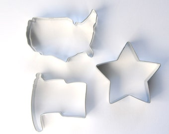 4th of July Cookie Cutter Set, American Cookie Cutter Set